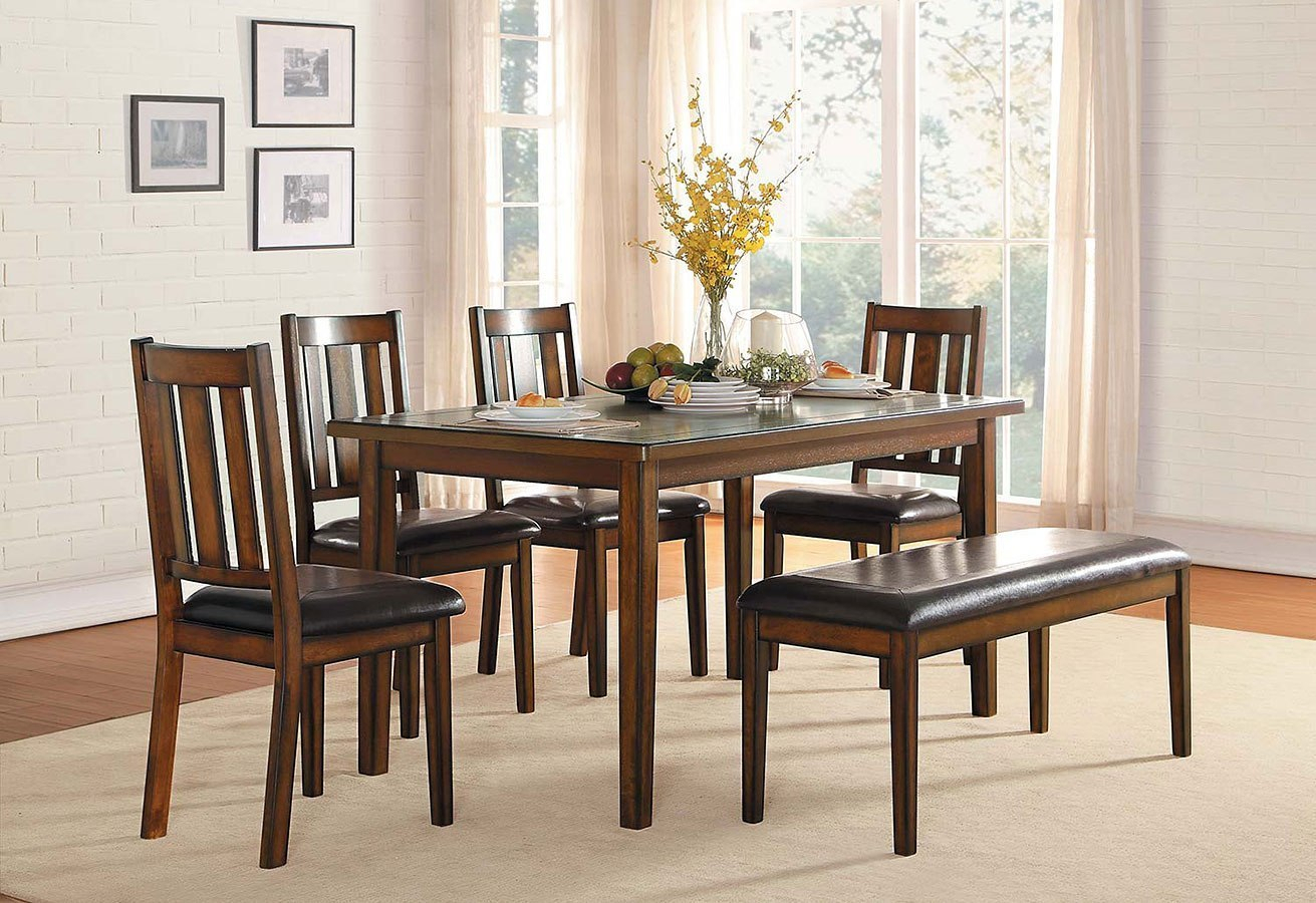 Well Known Delmar 6 Piece Dining Room Sethomelegance (View 9 of 20)
