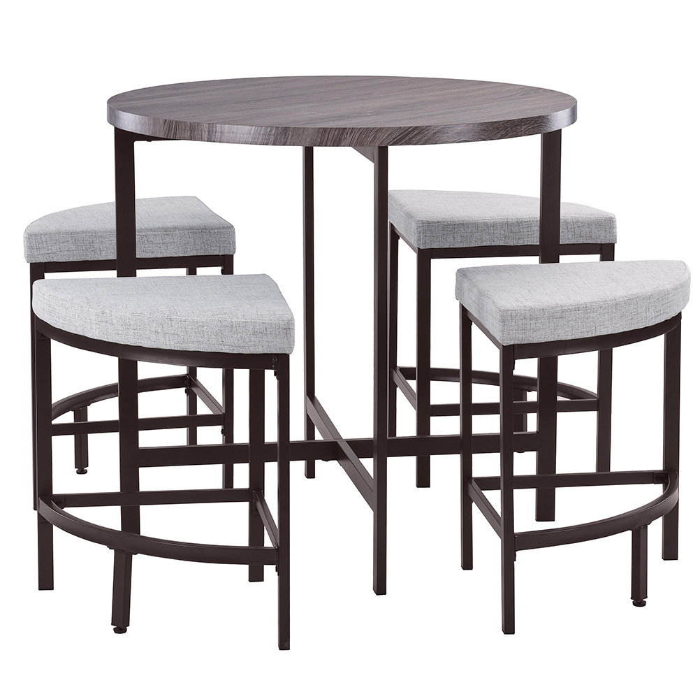 Well Known Honoria 3 Piece Dining Sets For Red Barrel Studio Trever Kitchen 5 Piece Dining Set & Reviews (#20 of 20)
