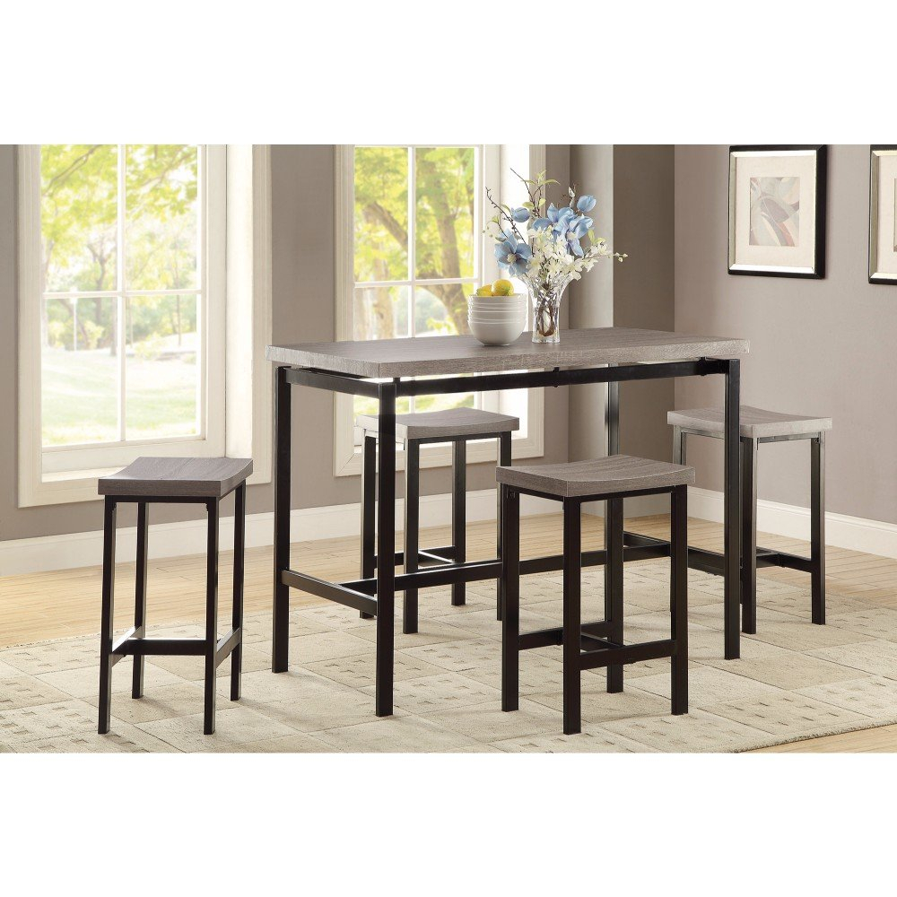 Well Known Kernville 3 Piece Counter Height Dining Sets In Williston Forge Mccreery 5 Piece Counter Height Dining Set (#15 of 20)