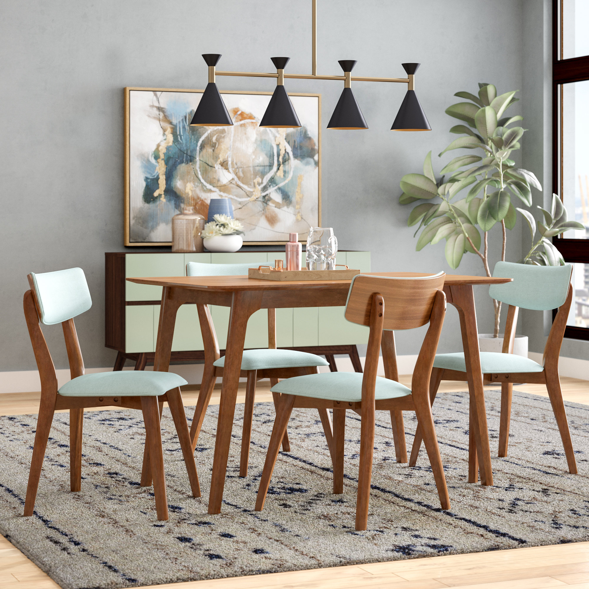 Well Known Liles 5 Piece Breakfast Nook Dining Sets Within George Oliver Andrew 5 Piece Dining Set & Reviews (#20 of 20)