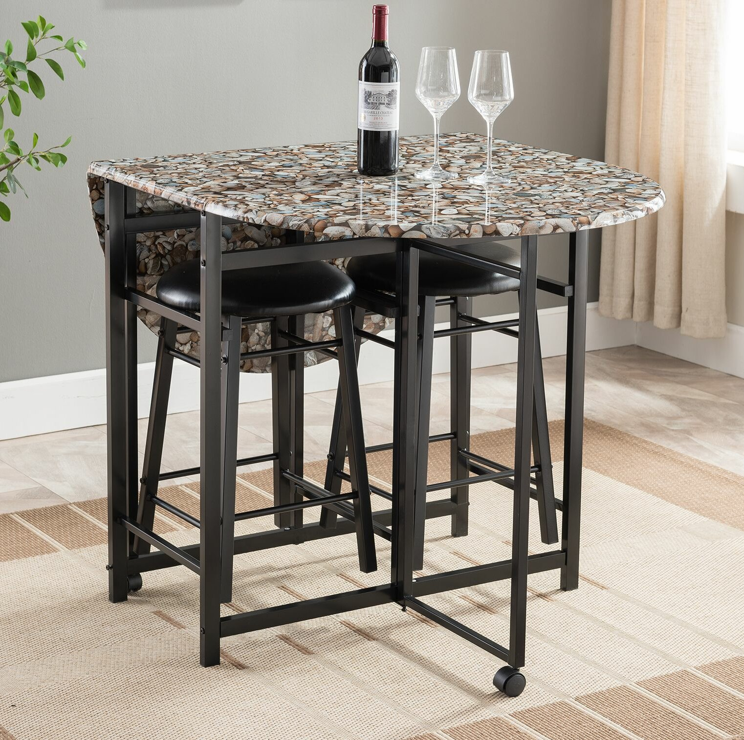 Well Known Mizpah 3 Piece Counter Height Dining Sets With Regard To Winston Porter Cuyahoga 3 Piece Pub Table Set (View 15 of 20)