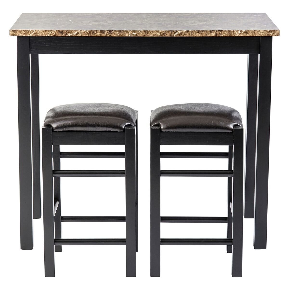 Well Known Moorehead 3 Piece Counter Height Dining Sets Pertaining To Winston Porter Moorehead 3 Piece Counter Height Dining Set & Reviews (#18 of 20)