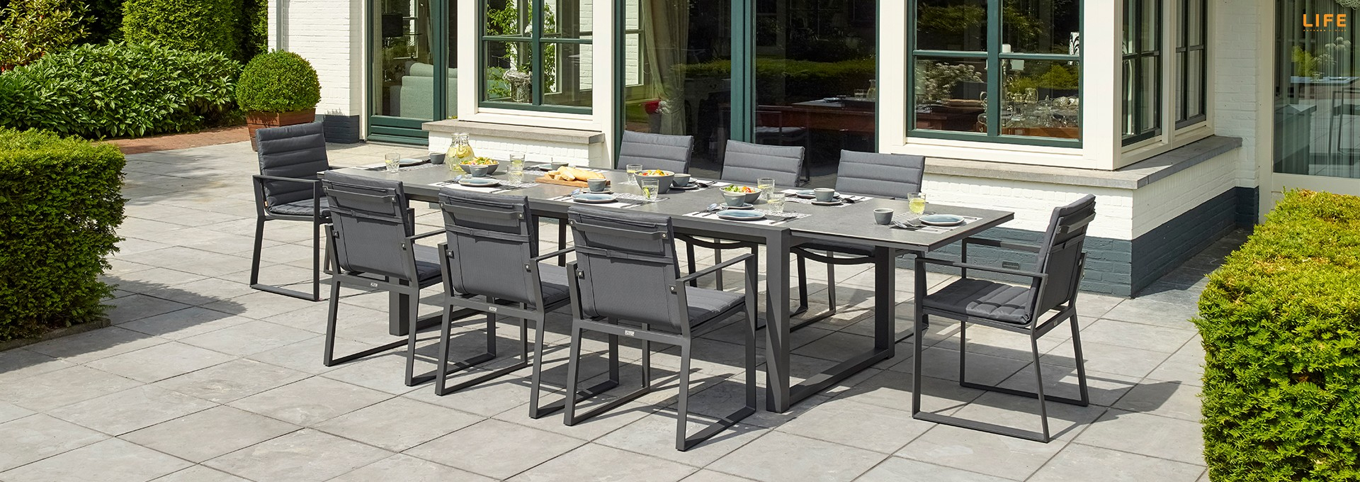 Well Known Osterman 6 Piece Extendable Dining Sets (Set Of 6) With Primavera Dining Extendable Lava – Life Outdoor Living (#20 of 20)