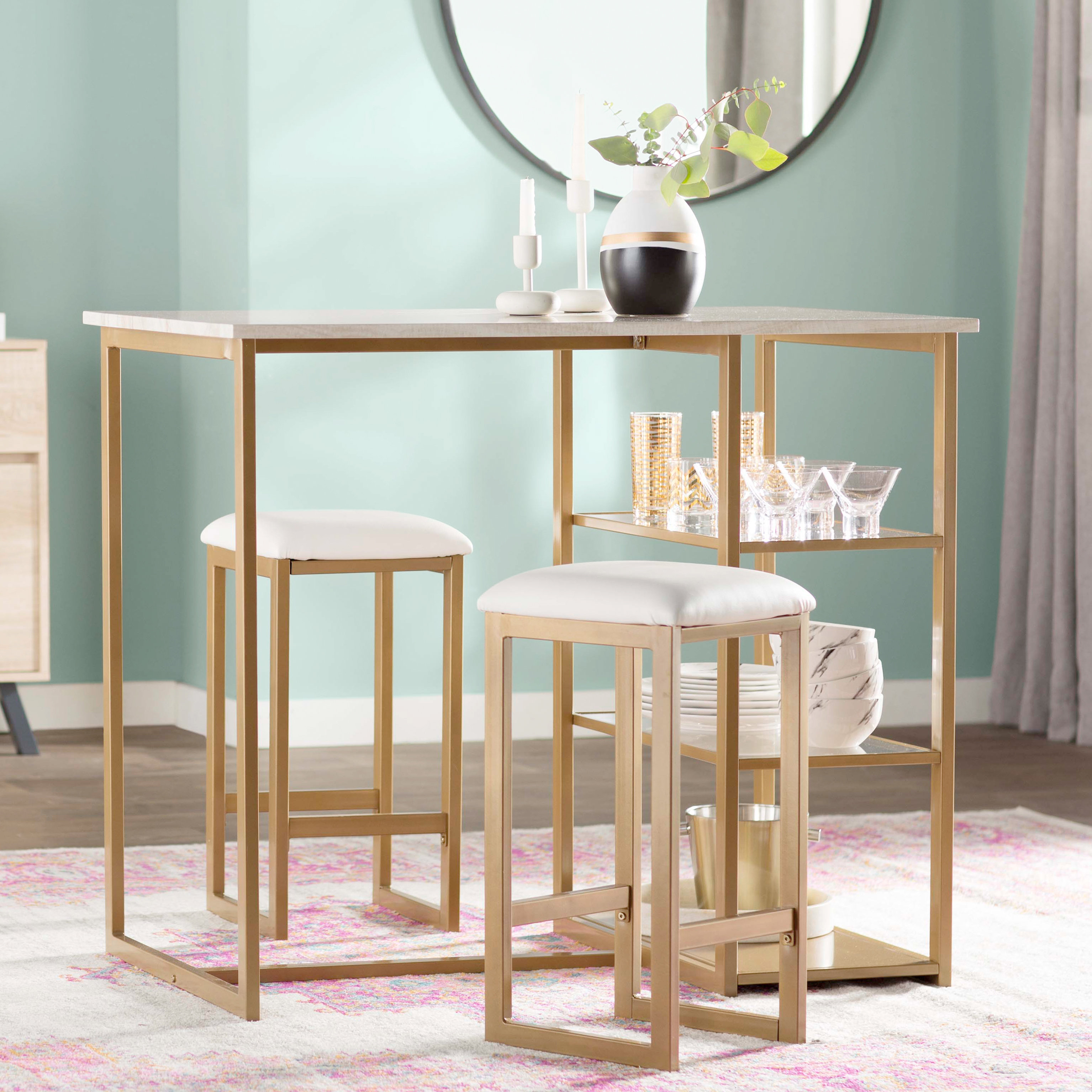 Inspiration about Well Known Tappahannock 3 Piece Counter Height Dining Sets Intended For Mercury Row Denham 3 Piece Pub Table Set & Reviews (#11 of 20)