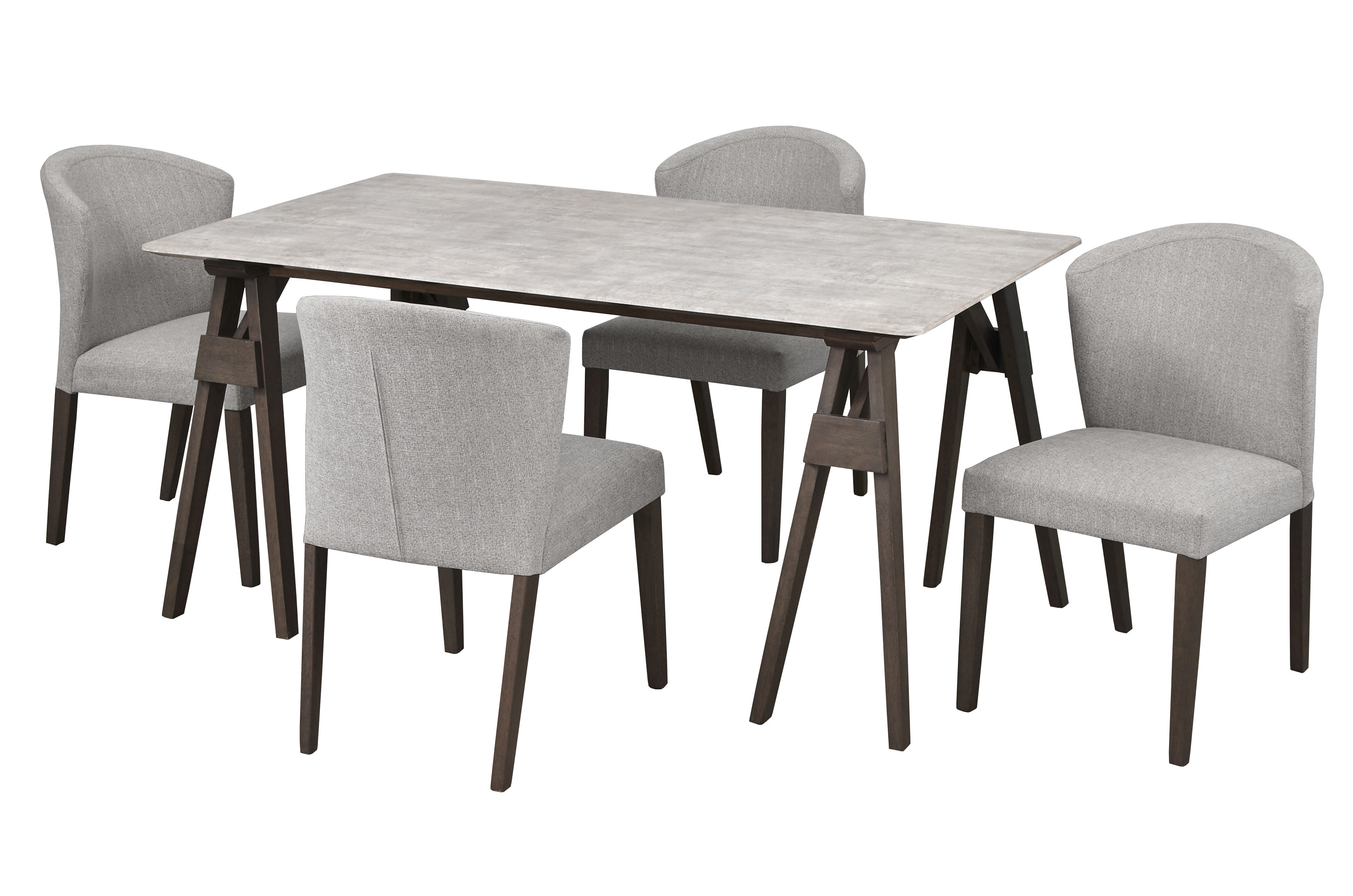 Inspiration about Well Liked Gracie Oaks Macclesfield 5 Piece Solid Wood Dining Set (#12 of 20)