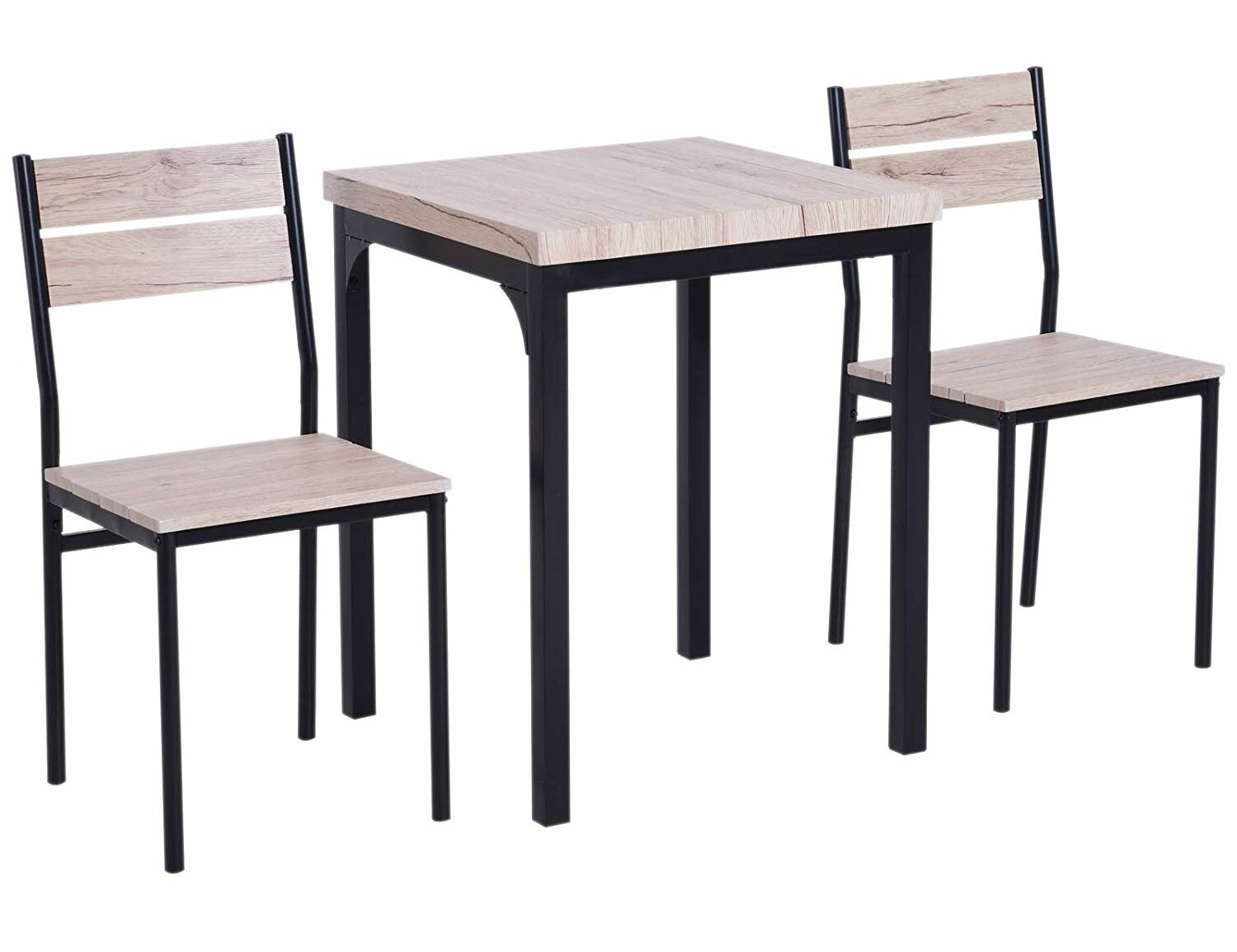 Well Liked Gracie Oaks Staley Rustic Country 3 Piece Dining Set (#17 of 20)
