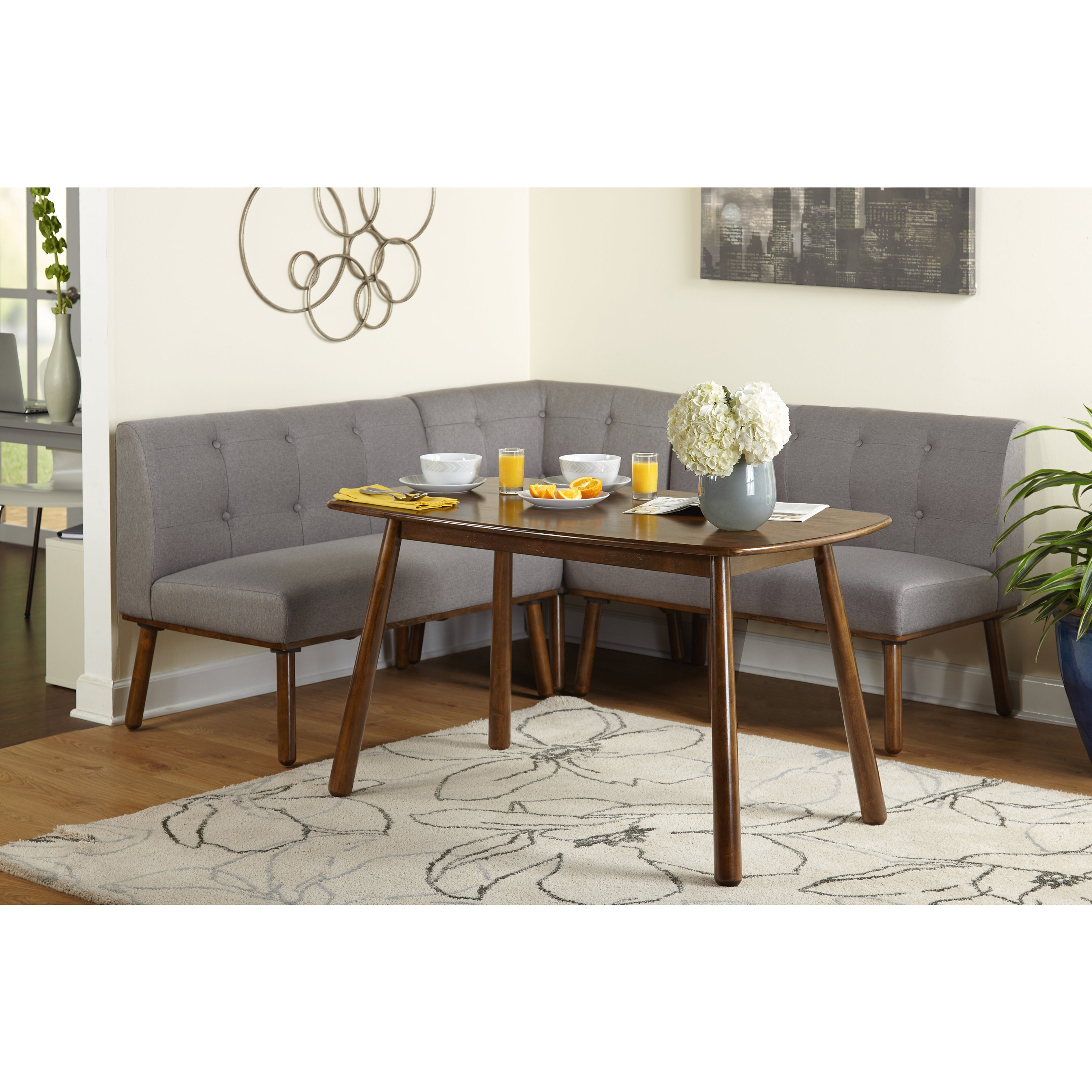 Inspiration about Well Liked Maloney 3 Piece Breakfast Nook Dining Sets Intended For Shop Simple Living 4 Piece Playmate Nook Dining Set – On Sale – Free (#3 of 20)