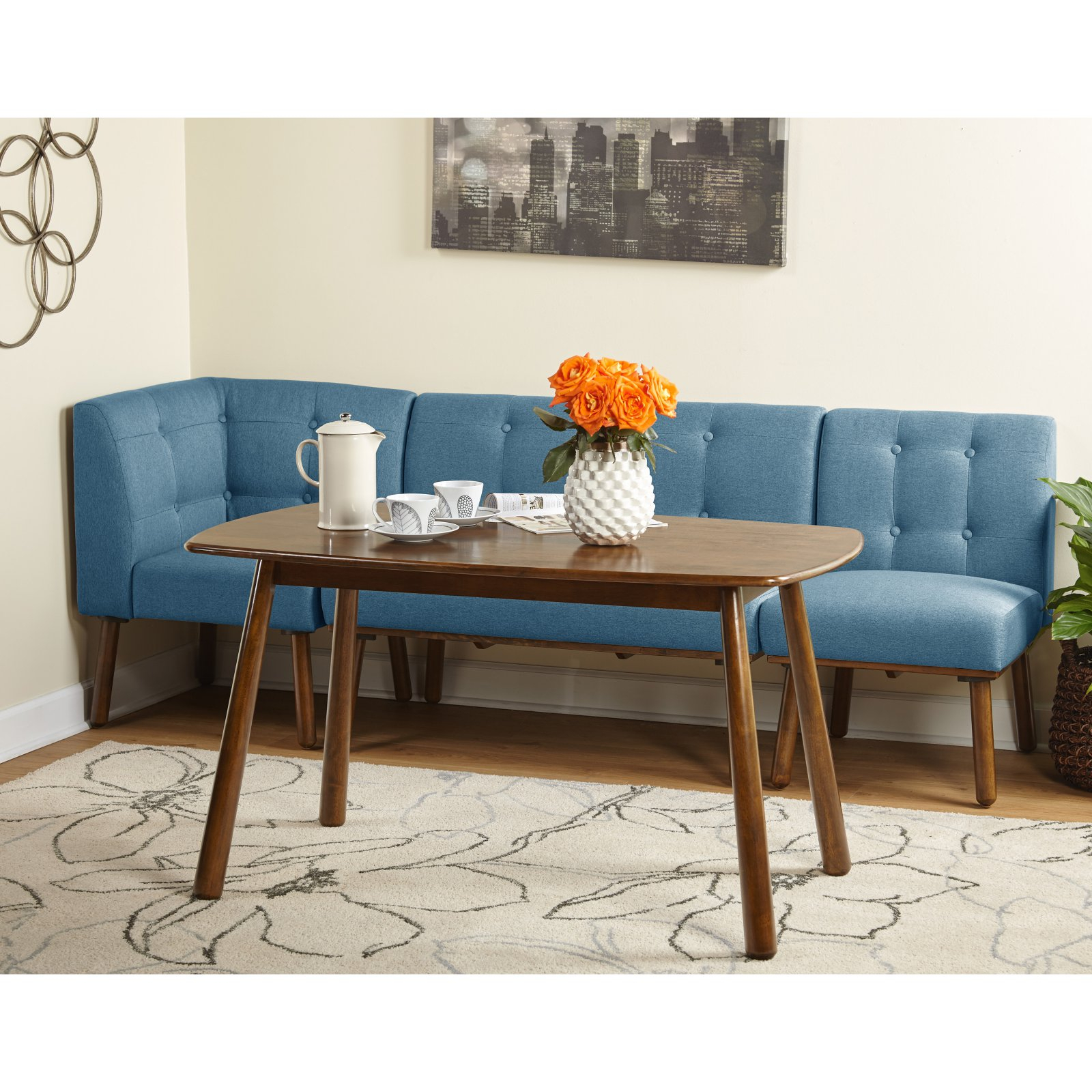 Inspiration about Well Liked Mukai 5 Piece Dining Sets Within Target Marketing Systems Playmate 4 Piece Dining Table Set Blue (#18 of 20)