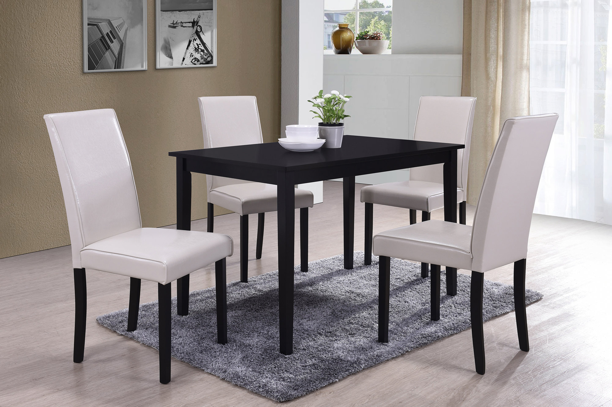 Inspiration about Well Liked Travon 5 Piece Dining Sets Within Bestmasterfurniture 5 Piece Dining Set (#4 of 20)
