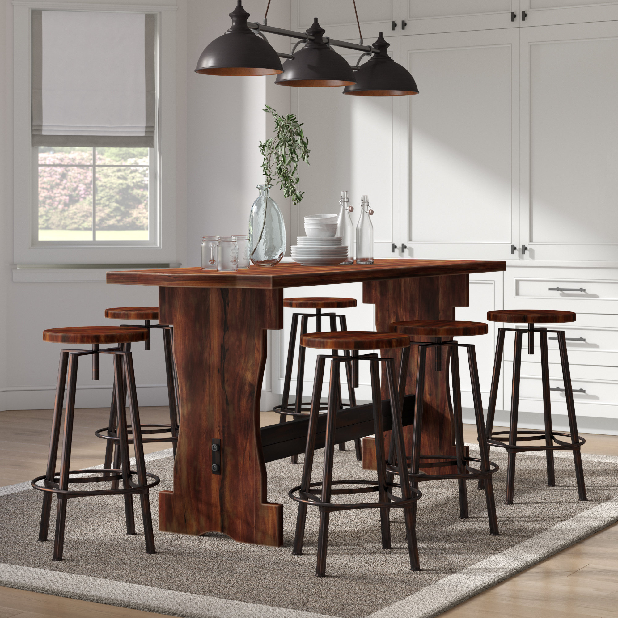 Inspiration about Well Liked Winsted 4 Piece Counter Height Dining Sets For Laurel Foundry Modern Farmhouse Connery 7 Piece Counter Height Pub (#14 of 20)