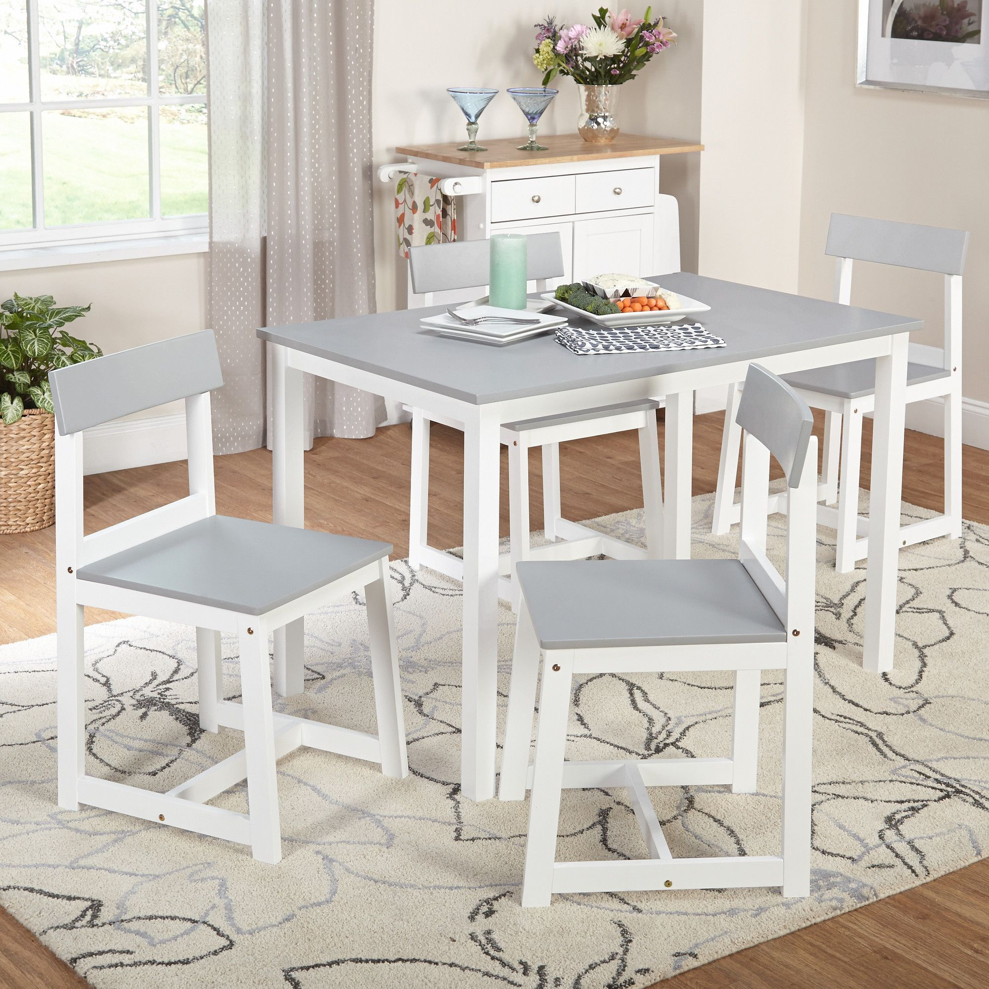 Inspiration about White Dining Set, 5 Piece (#1 of 20)