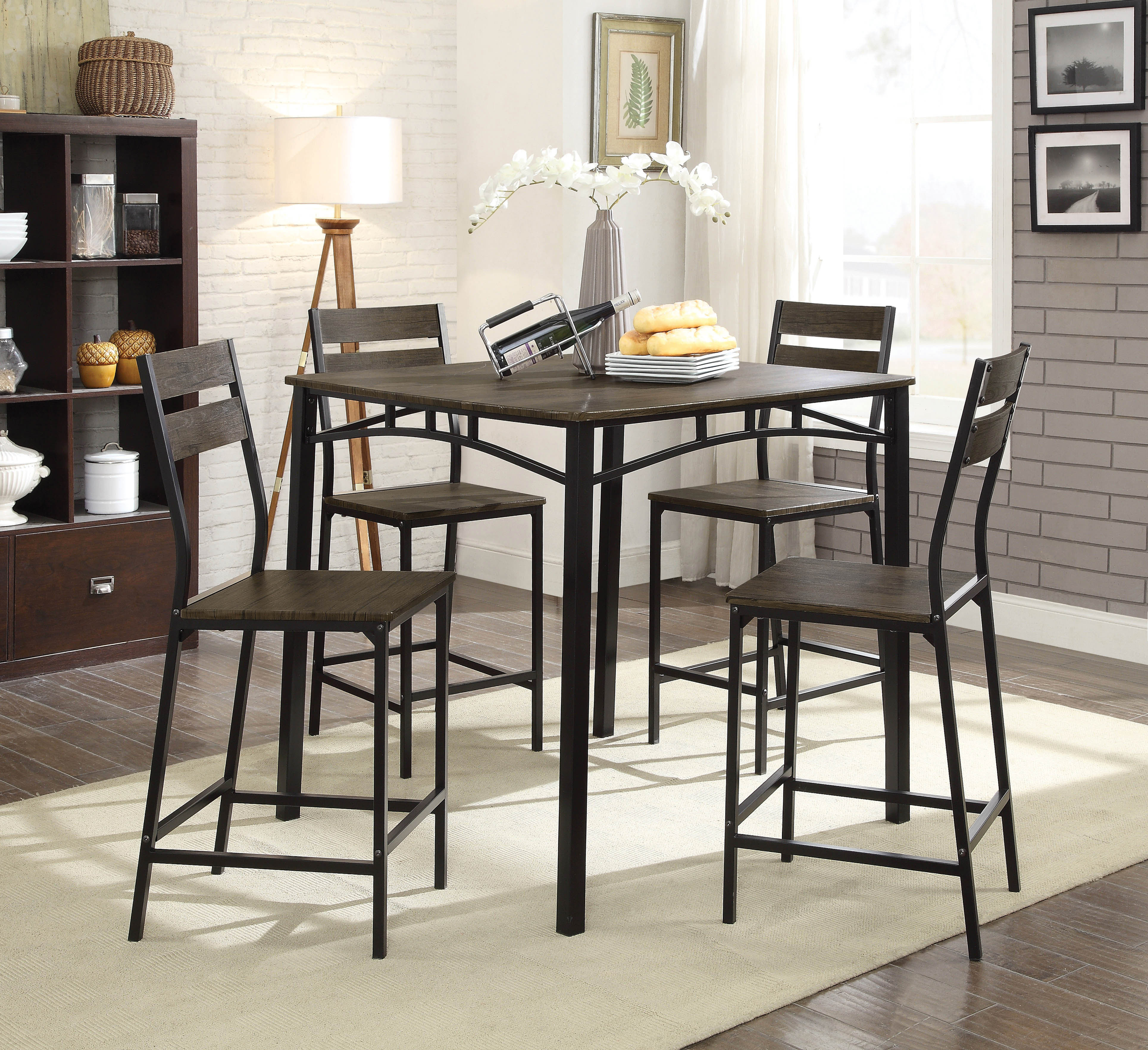 Widely Used Autberry 5 Piece Dining Sets With Regard To Gracie Oaks Autberry 5 Piece Pub Table Set (#19 of 20)