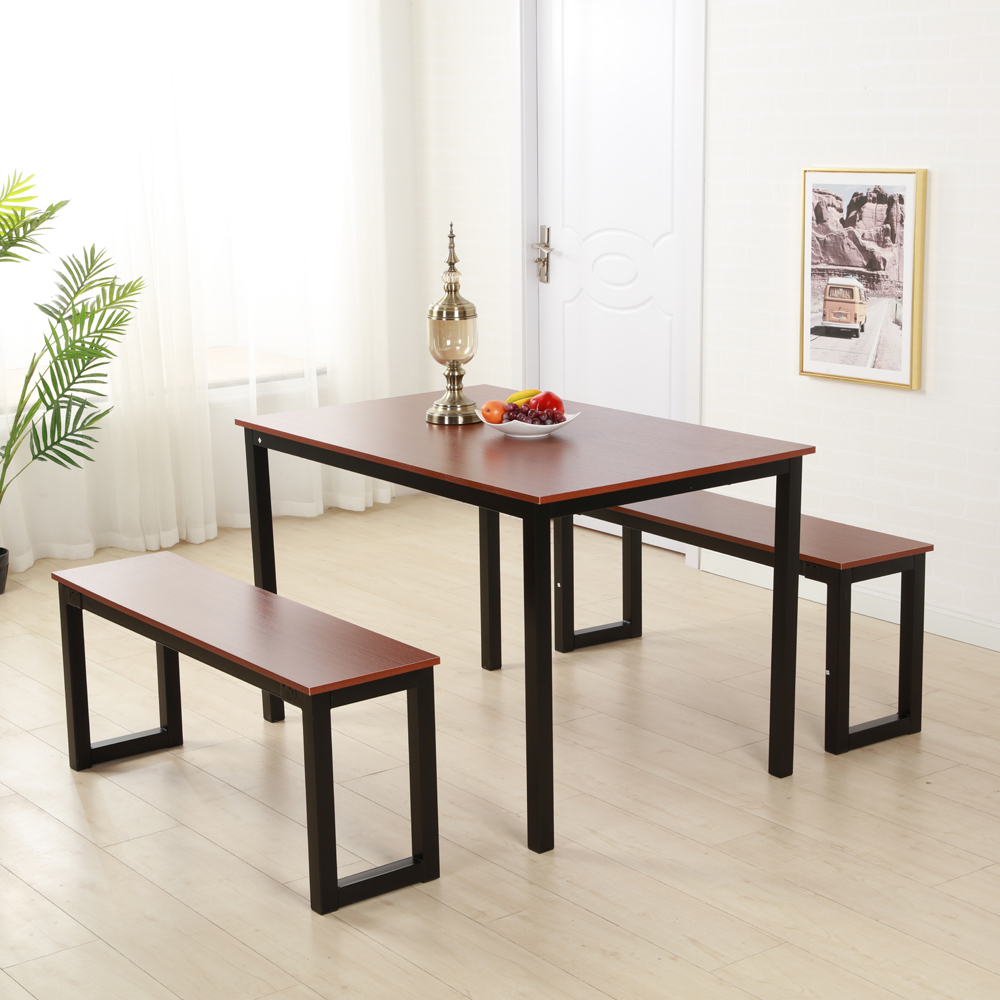 Widely Used Brown Dining Table Set 3 Piece Benches Breakfast Nook Steel Frame For Lillard 3 Piece Breakfast Nook Dining Sets (View 3 of 20)