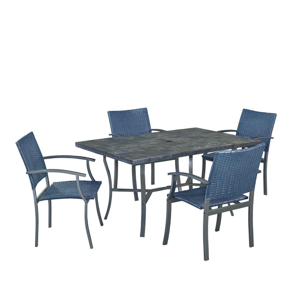 Widely Used Frida 3 Piece Dining Table Sets For Home Styles Stone Veneer 5 Piece Patio Patio Dining Set 6000  (#20 of 20)