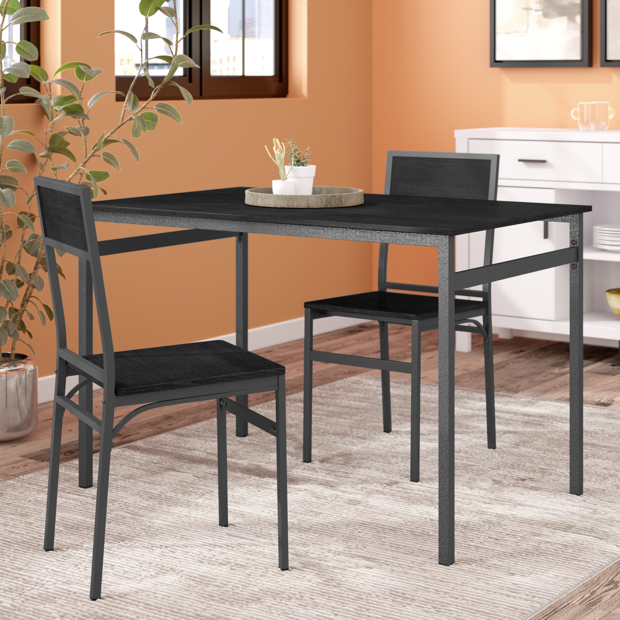 Widely Used Latitude Run Springfield 3 Piece Dining Set & Reviews (View 1 of 20)
