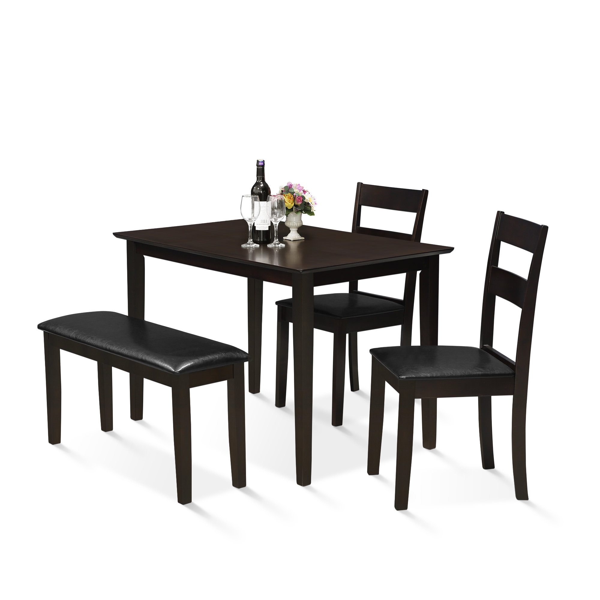 Widely Used Miskell 3 Piece Dining Sets For Red Barrel Studio Mealor 4 Piece Dining Set (#19 of 20)