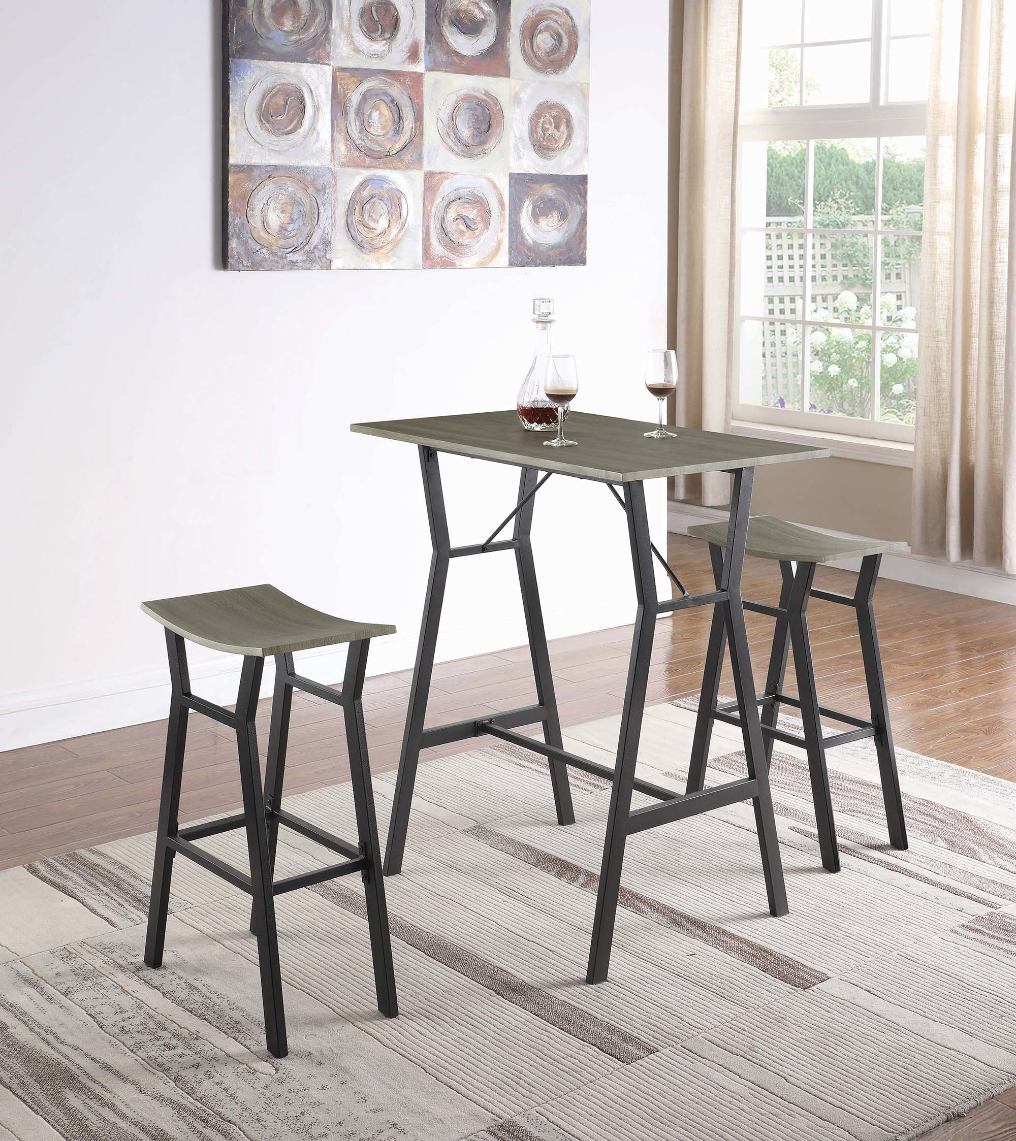 Inspiration about Williston Forge Carrico 3 Piece Pub Table Set (#9 of 20)