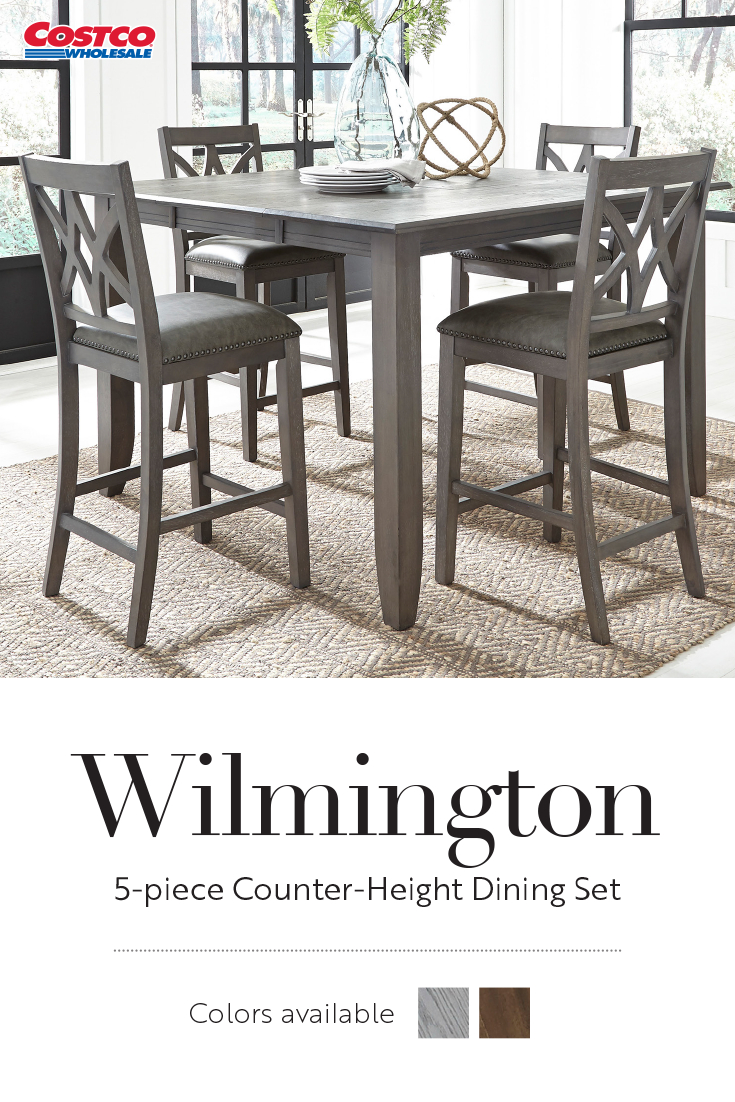 Inspiration about Wilmington 5 Piece Counter Height Dining Set In 2019 (#2 of 20)