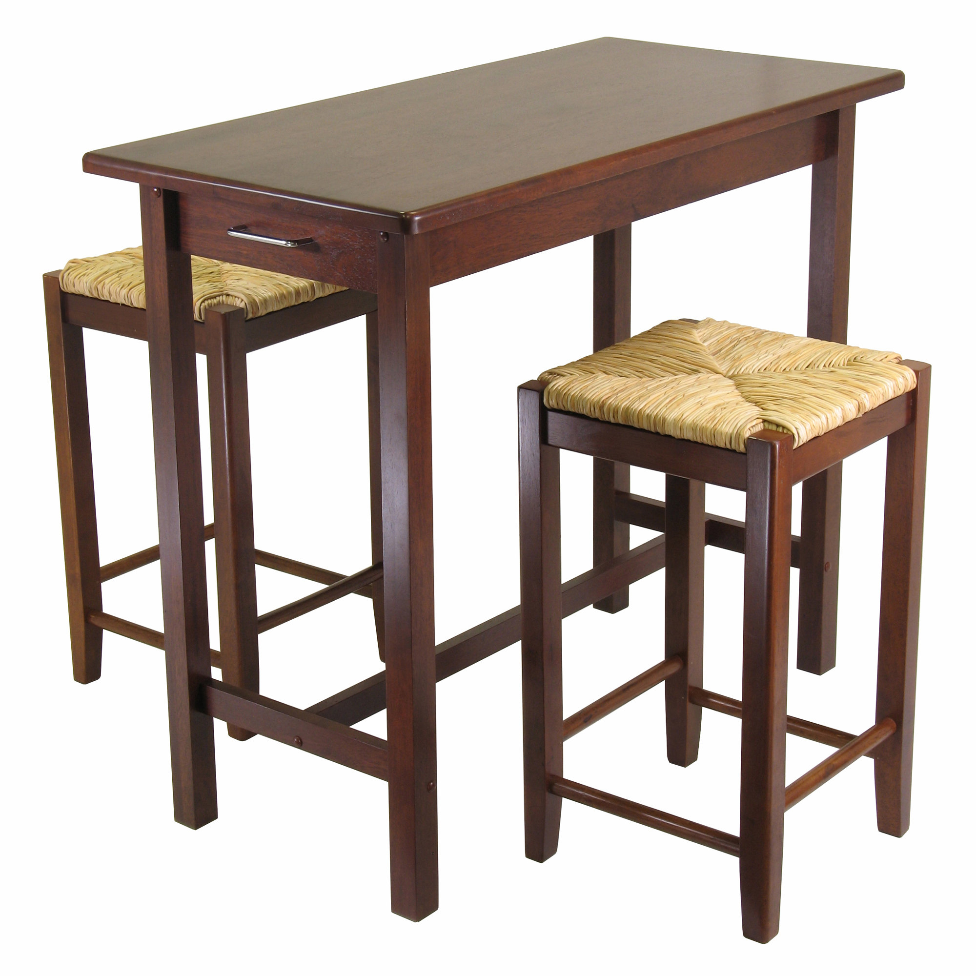 Winsome 3 Piece Counter Height Dining Set & Reviews (#20 of 20)