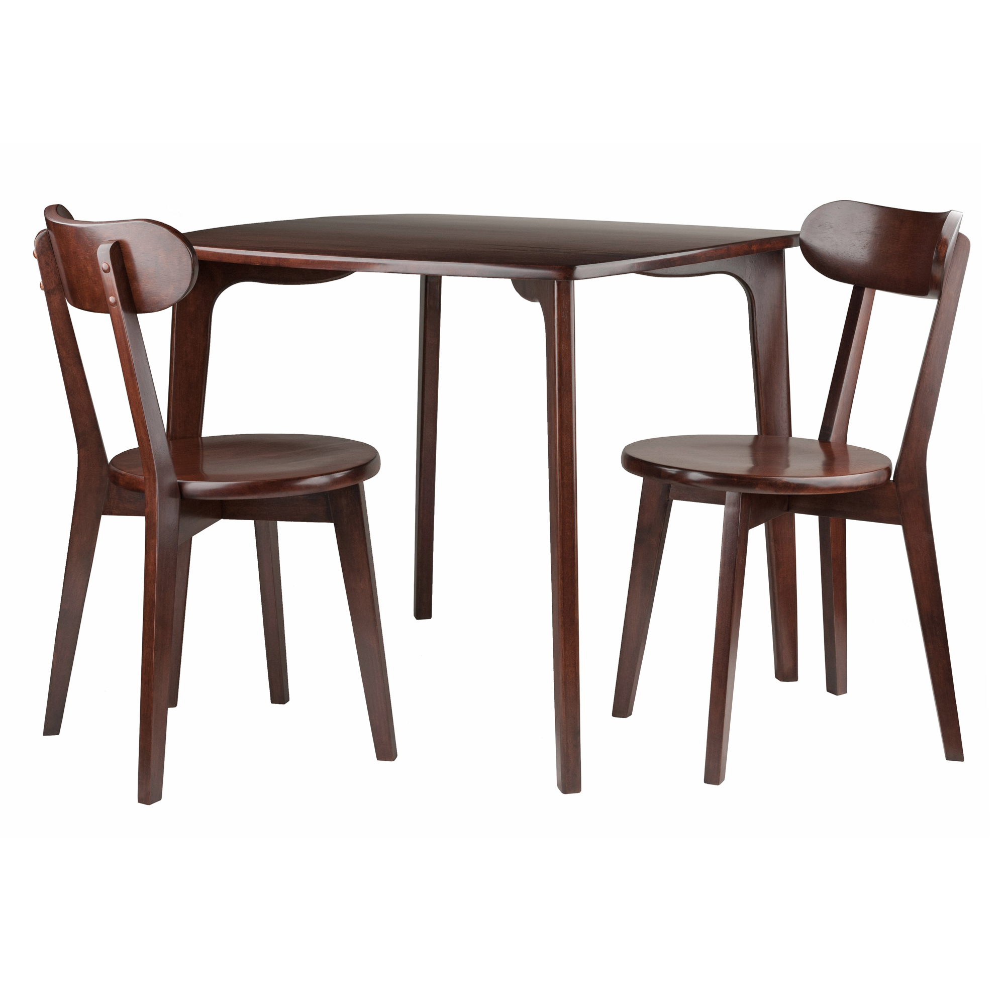 Inspiration about Winsome Wood Pauline 3 Piece Dining Table With Chairs Set, Walnut With Regard To Most Current Winsome 3 Piece Counter Height Dining Sets (#7 of 20)