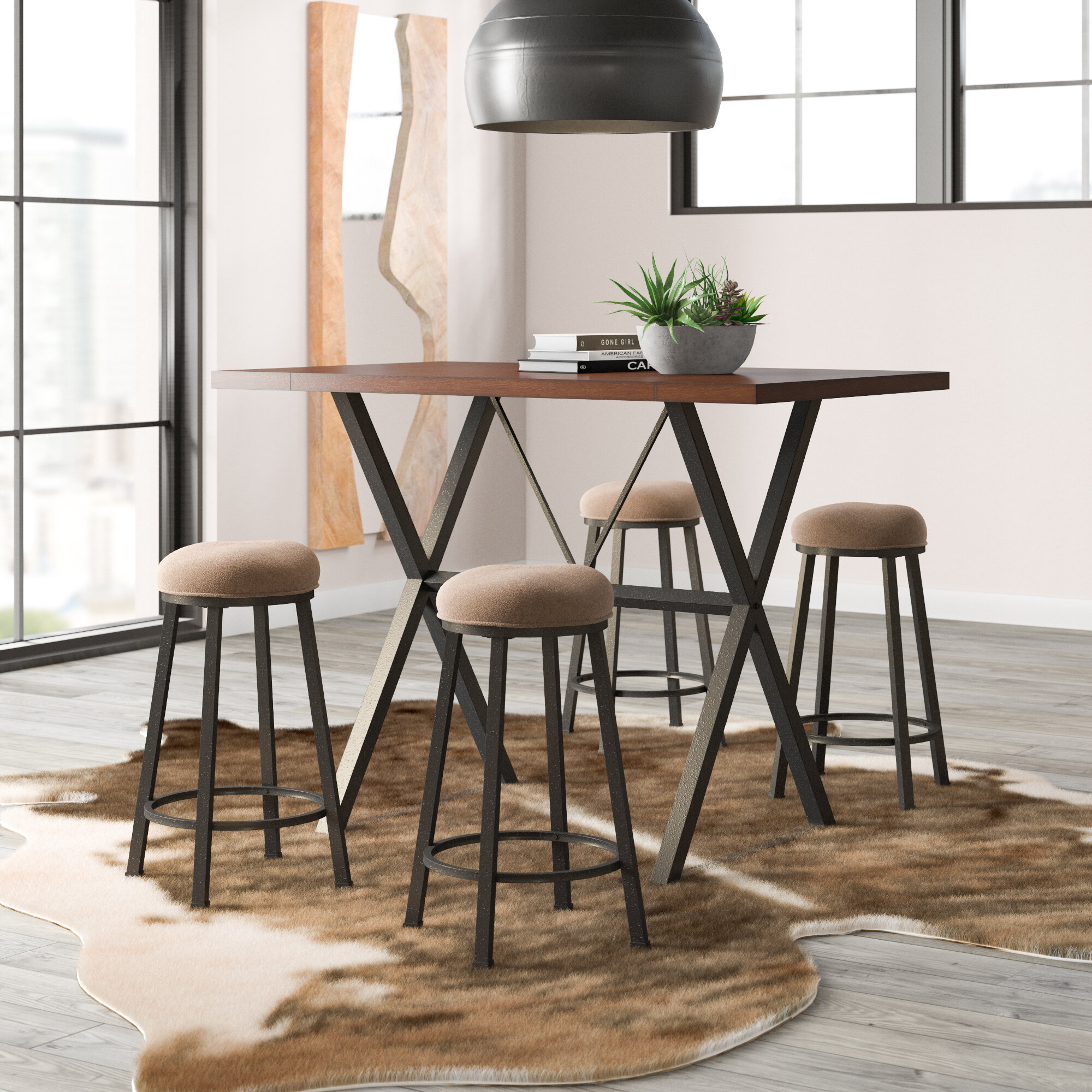 Inspiration about Winsted 4 Piece Counter Height Dining Sets Pertaining To Fashionable Trent Austin Design Gladeview 5 Piece Dining Set & Reviews (#12 of 20)