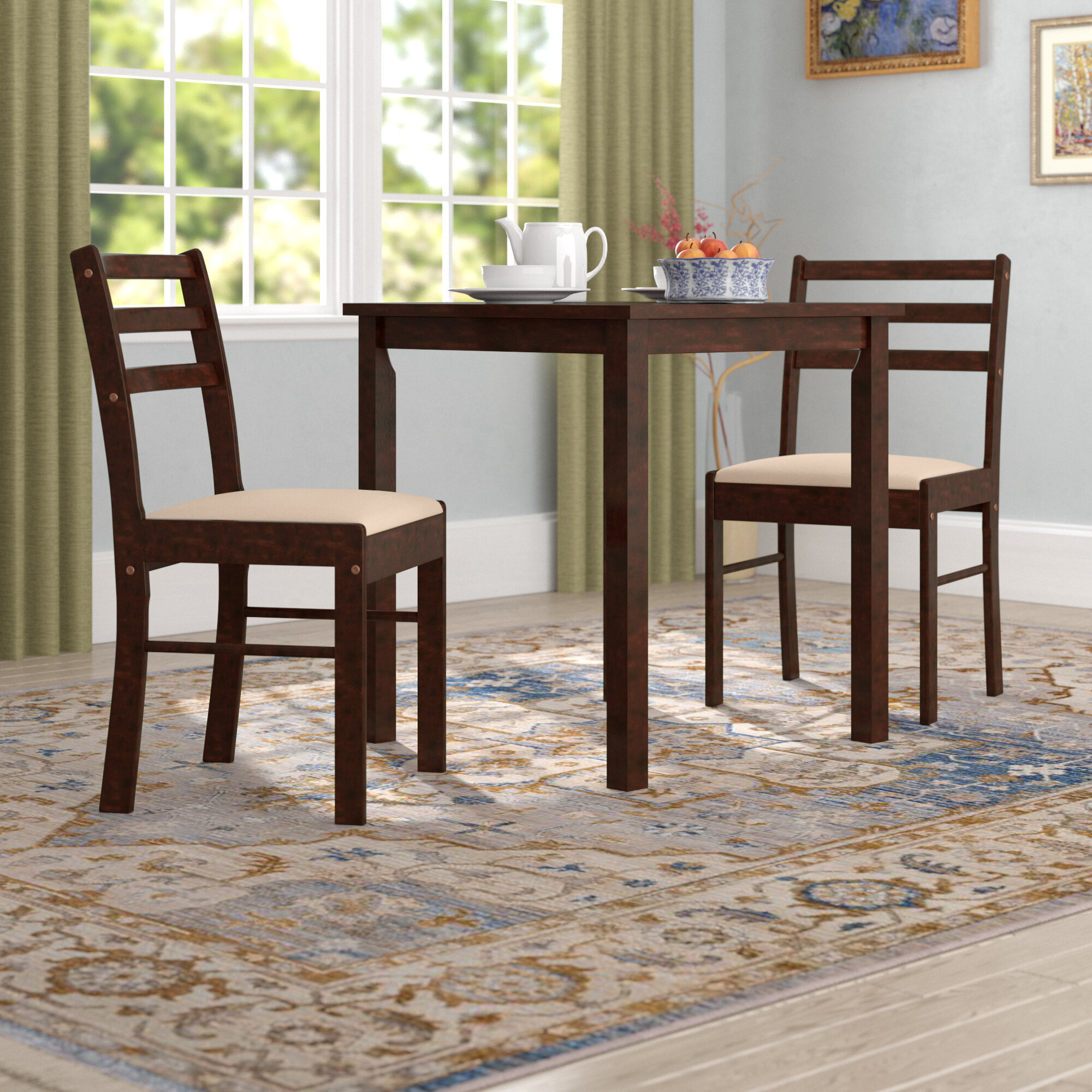 Winston Porter Clinger Pilaster Designs 3 Piece Dining Set (View 8 of 20)