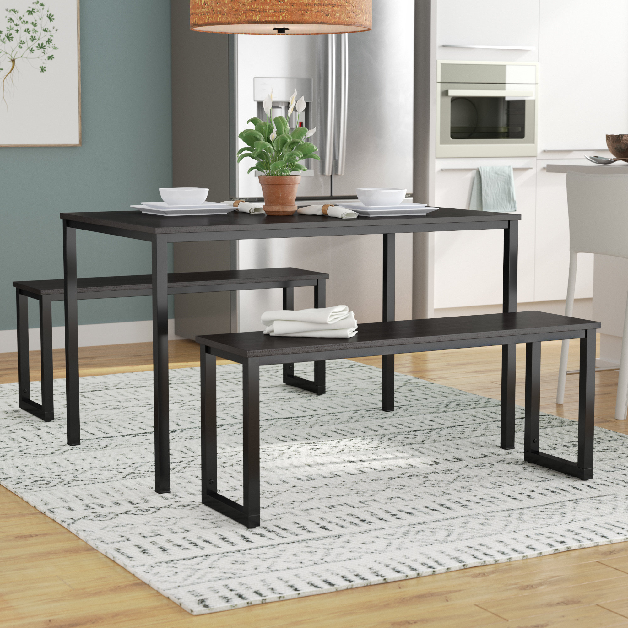 Wrought Studio Chelmsford 3 Piece Dining Set & Reviews (View 16 of 20)