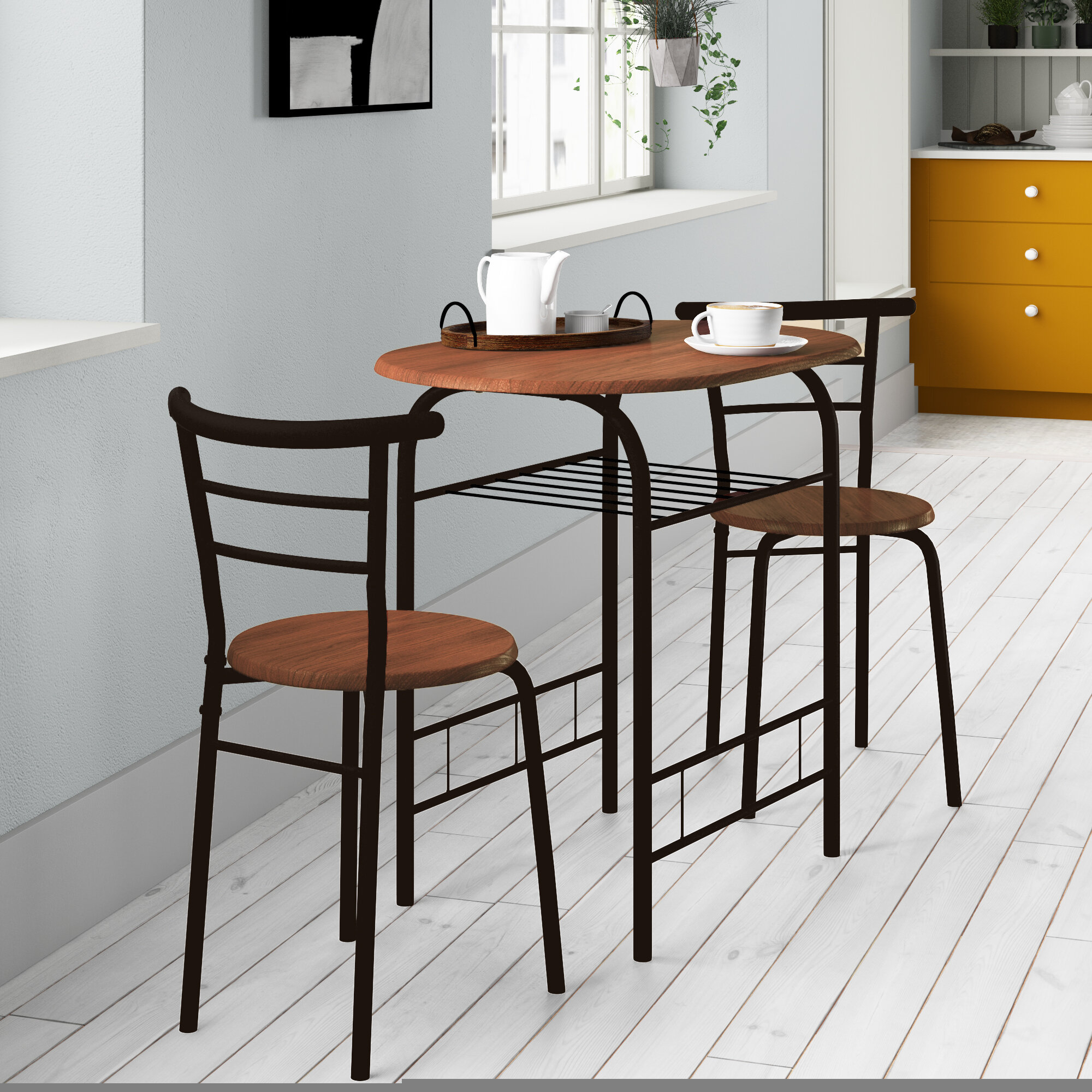 Zipcode Design Volmer 3 Piece Compact Dining Set & Reviews (#20 of 20)