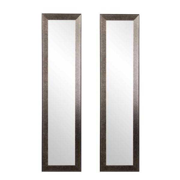 Inspiration about 15.5 In. X 70.5 In. 2 Piece Industrial Metal Slim Full Length Mirror Set Pertaining To Industrial Full Length Mirrors (#13 of 20)