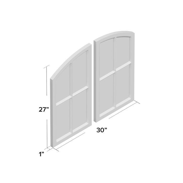 2 Piece Kissena Window Pane Accent Mirror Set Pertaining To 2 Piece Kissena Window Pane Accent Mirror Sets (View 4 of 20)