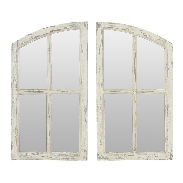 Inspiration about 2 Piece Kissena Window Pane Accent Mirror Set Within 2 Piece Kissena Window Pane Accent Mirror Sets (#3 of 20)