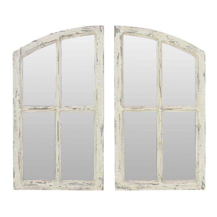2 Piece Kissena Window Pane Accent Mirror Set Within 2 Piece Kissena Window Pane Accent Mirror Sets (View 9 of 20)