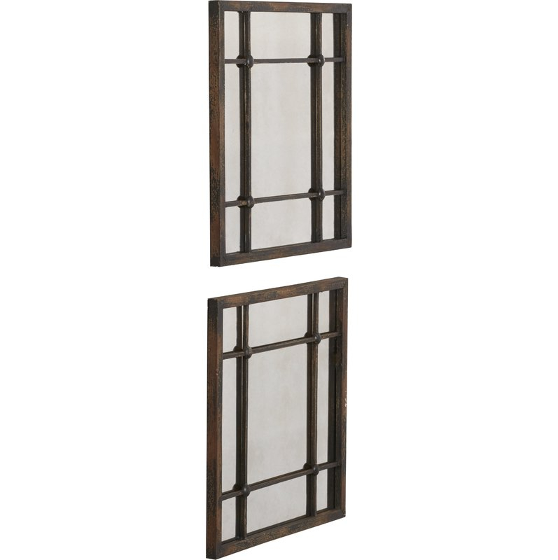 2 Piece Priscilla Square Traditional Beveled Distressed Accent Mirror Set With 2 Piece Priscilla Square Traditional Beveled Distressed Accent Mirror Sets (View 6 of 20)