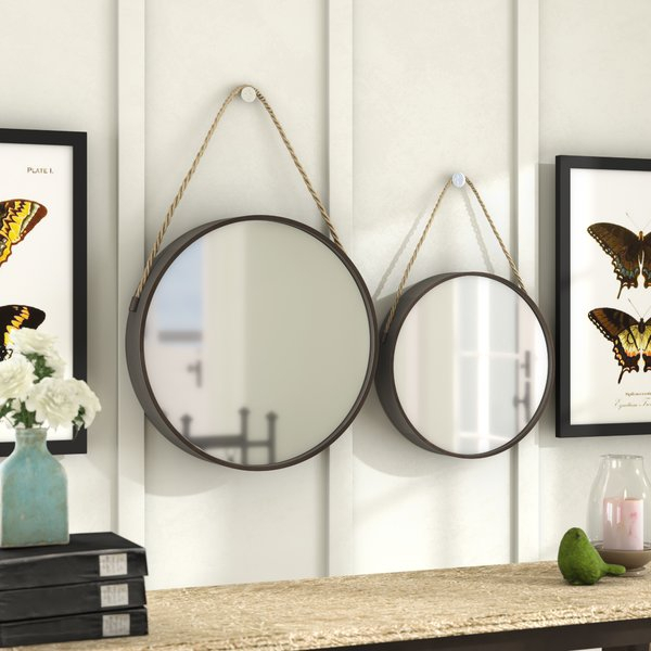 2 Piece Wall Mirror Sets | Wayfair With 2 Piece Priscilla Square Traditional Beveled Distressed Accent Mirror Sets (View 19 of 20)
