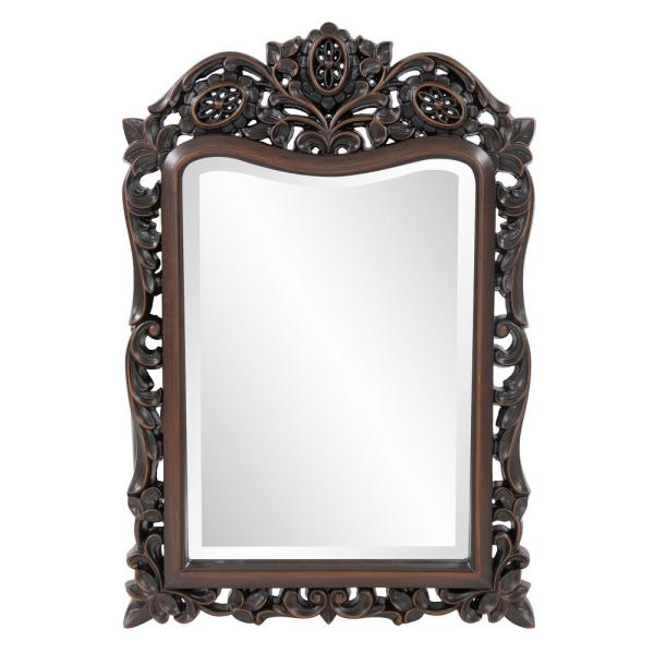 Inspiration about 20 In. X 29 In. Traditional Framed Mirror In Brown 4085 With Regard To Traditional Metal Wall Mirrors (#8 of 20)