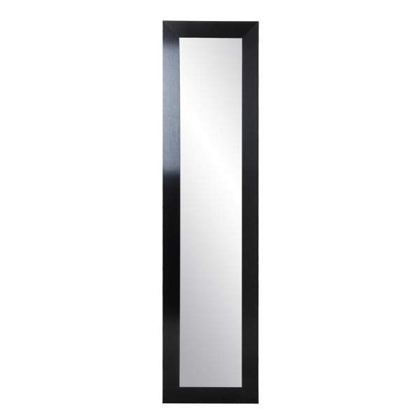 Inspiration about 21.5 In. X 71 In. Black Satin Slim Full Length Mirror Within Handcrafted Farmhouse Full Length Mirrors (#13 of 20)
