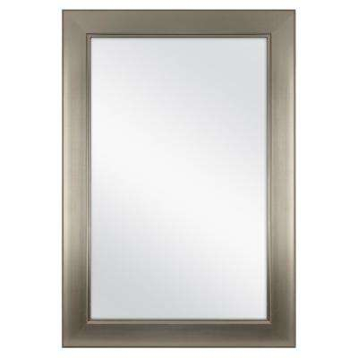 Inspiration about 24 In. W X 35 In. L Framed Fog Free Wall Mirror In Modern Nickel With Pfister Oval Wood Wall Mirrors (#19 of 20)