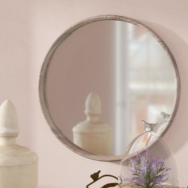 Inspiration about 27 Inch Round Mirror | Wayfair For Point Reyes Molten Round Wall Mirrors (#5 of 20)