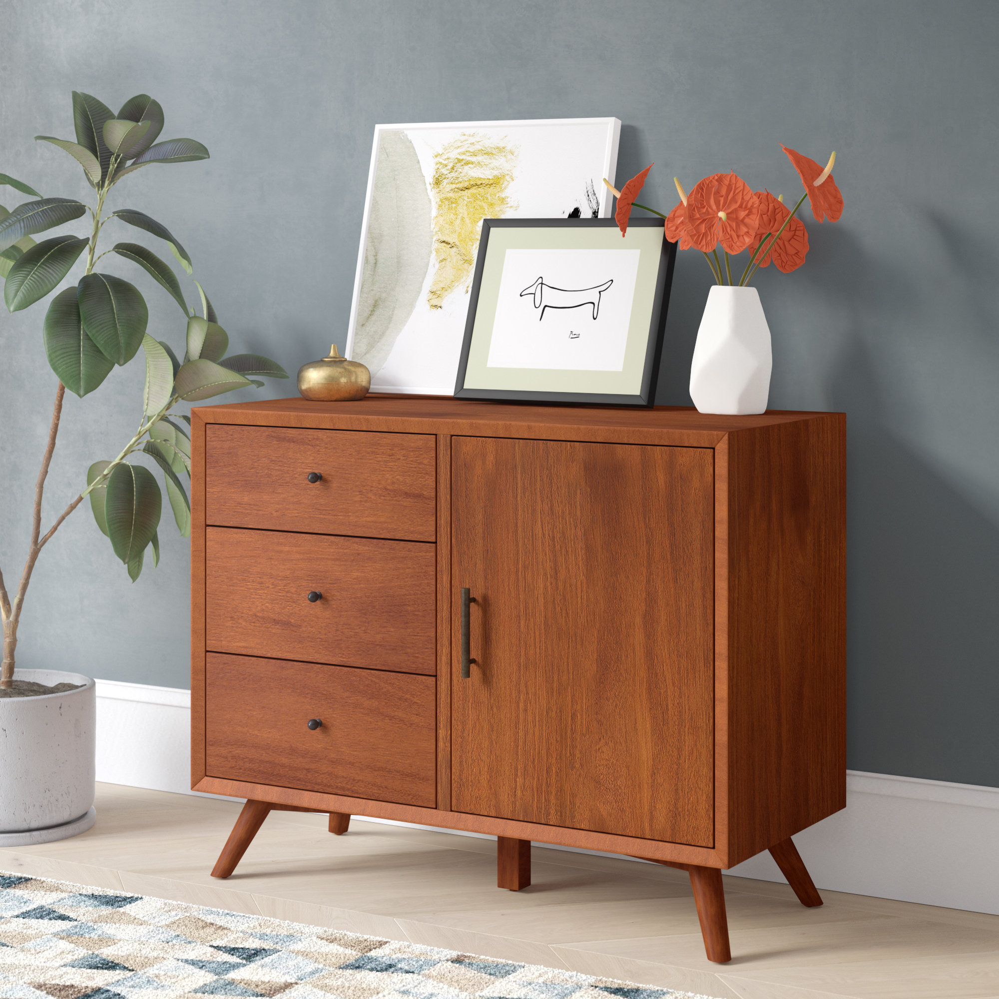 3 Drawer Credenza | Wayfair Throughout Best And Newest Giulia 3 Drawer Credenzas (View 6 of 20)
