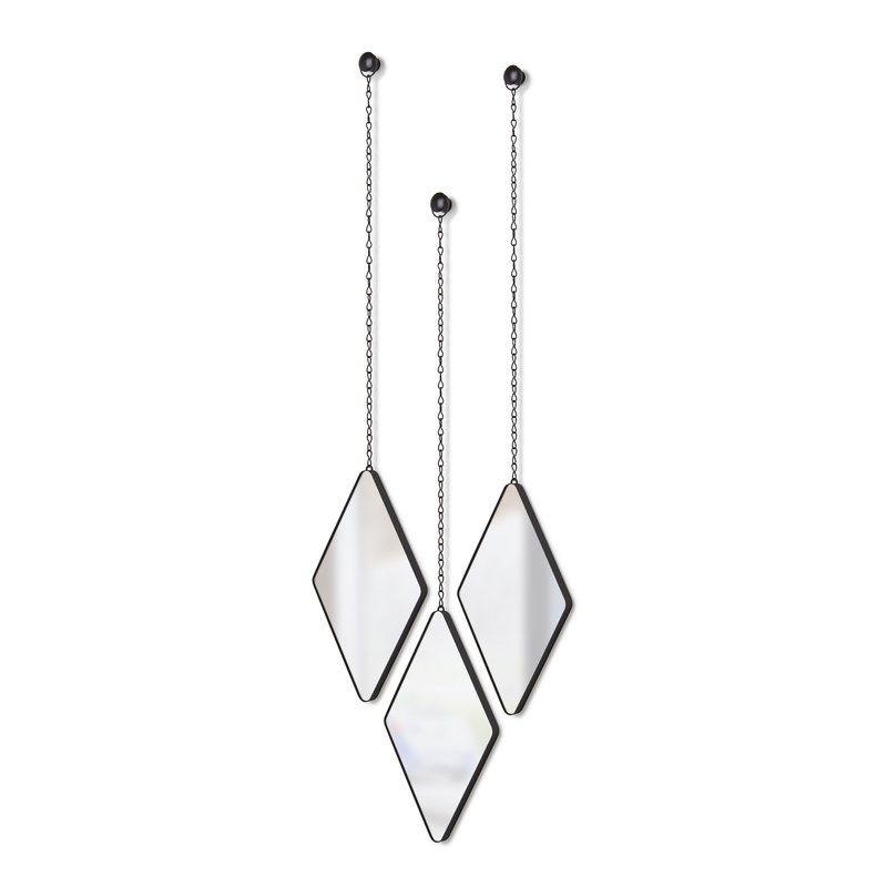Inspiration about 3 Piece Dima Hanging Modern & Contemporary Mirror Set For 3 Piece Dima Hanging Modern & Contemporary Mirror Sets (#8 of 20)