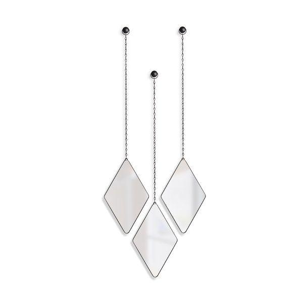 3 Piece Dima Hanging Modern & Contemporary Mirror Set In Pertaining To 3 Piece Dima Hanging Modern & Contemporary Mirror Sets (#3 of 20)