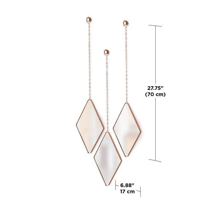 Inspiration about 3 Piece Dima Hanging Modern & Contemporary Mirror Set Regarding 3 Piece Dima Hanging Modern & Contemporary Mirror Sets (#6 of 20)