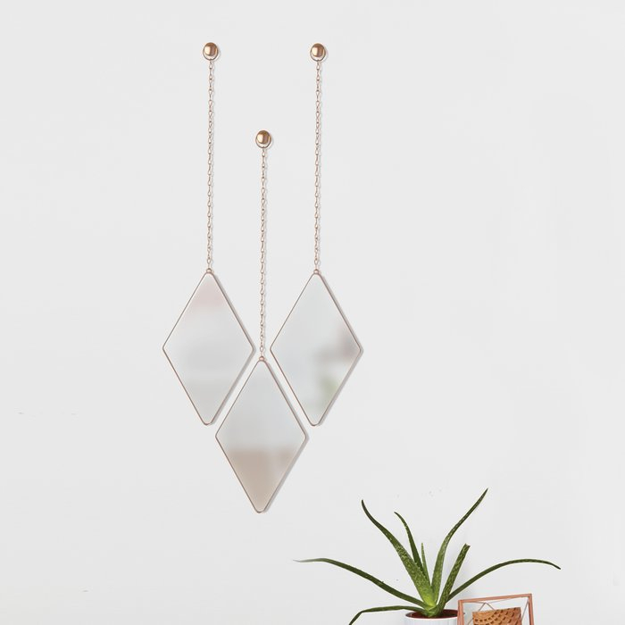 Inspiration about 3 Piece Dima Hanging Modern & Contemporary Mirror Set Throughout 3 Piece Dima Hanging Modern & Contemporary Mirror Sets (#2 of 20)