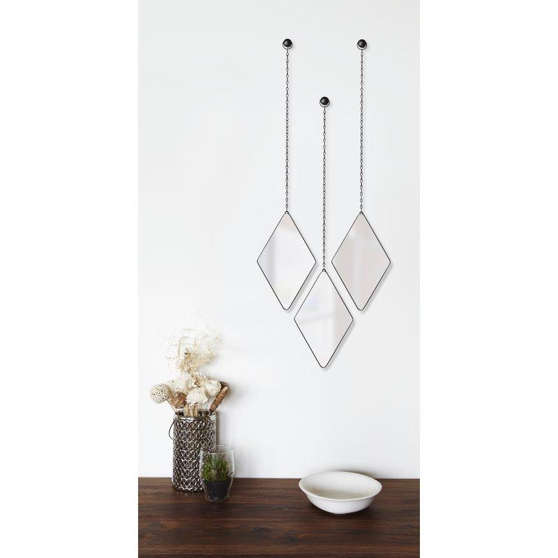 Popular Photo of 3 Piece Dima Hanging Modern & Contemporary Mirror Sets