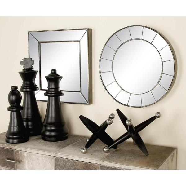 3 Piece New Traditional Frameless Illusion Wall Mirror Set Regarding Traditional Square Glass Wall Mirrors (#1 of 20)