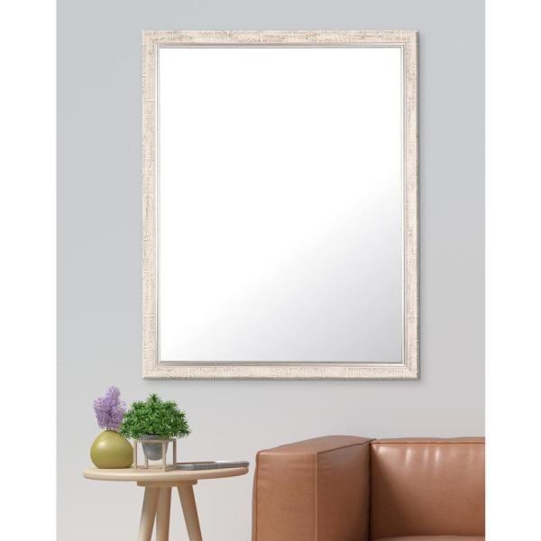 Inspiration about 30 In. X 36.5 In. Silver Trimmed Farmhouse Accent Mirror Within Silver Frame Accent Mirrors (#9 of 20)