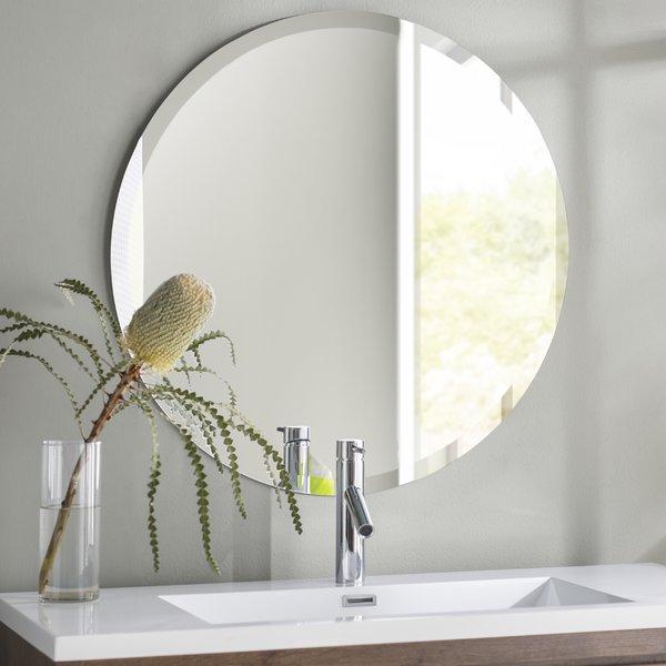 36 In Round Mirror | Wayfair In Point Reyes Molten Round Wall Mirrors (#2 of 20)