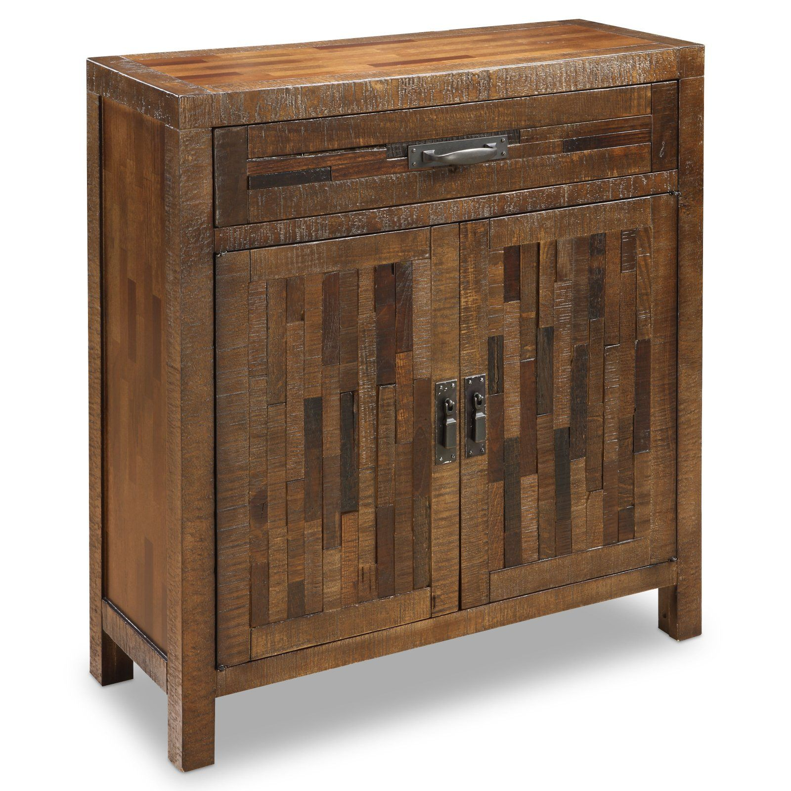 Inspiration about 36 In. Rustic Brown 1 Drawer Cabinet At The Foundary Inside Best And Newest Deville Russelle Sideboards (#16 of 20)
