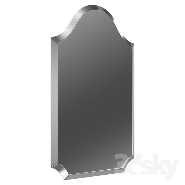 3D Models: Mirror – Dariel Tall Arched Scalloped Wall Mirror For Dariel Tall Arched Scalloped Wall Mirrors (#1 of 20)