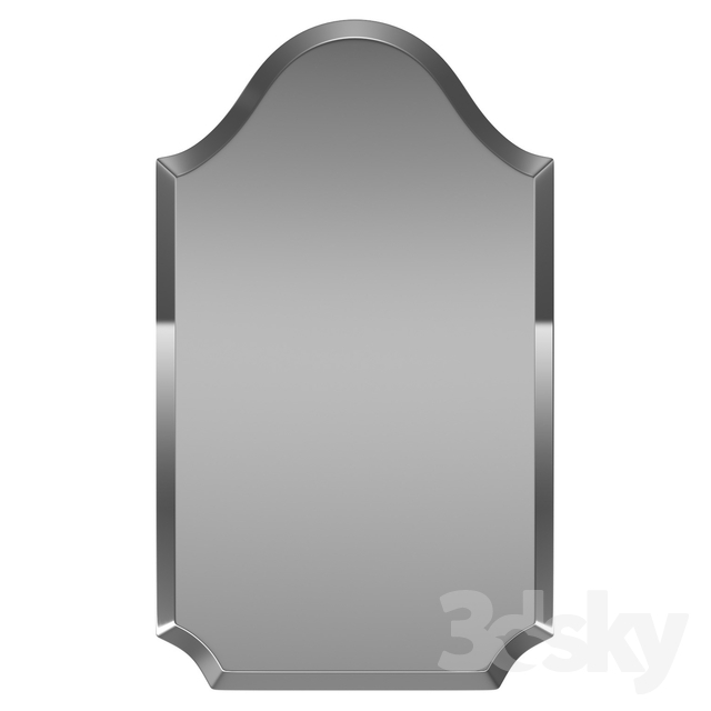 3D Models: Mirror – Dariel Tall Arched Scalloped Wall Mirror With Dariel Tall Arched Scalloped Wall Mirrors (#2 of 20)